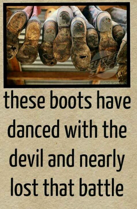 You never stop loving your boots.