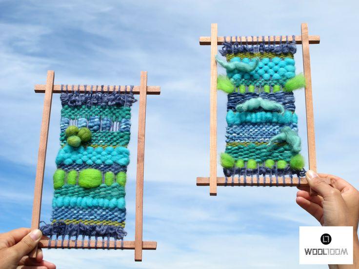 Mr. Mustache - Sr. Mostacho - Hand woven wall hanging // weaving // telar decorativo made by WooL LooM - www.facebook.com/WooLLooM