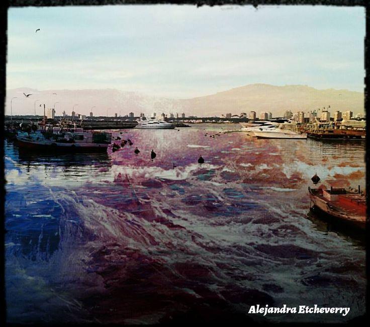 Aguas en movimiento - Fotografía intervenida - San Luis, Argentina - Autora: Alejandra Etcheverry
