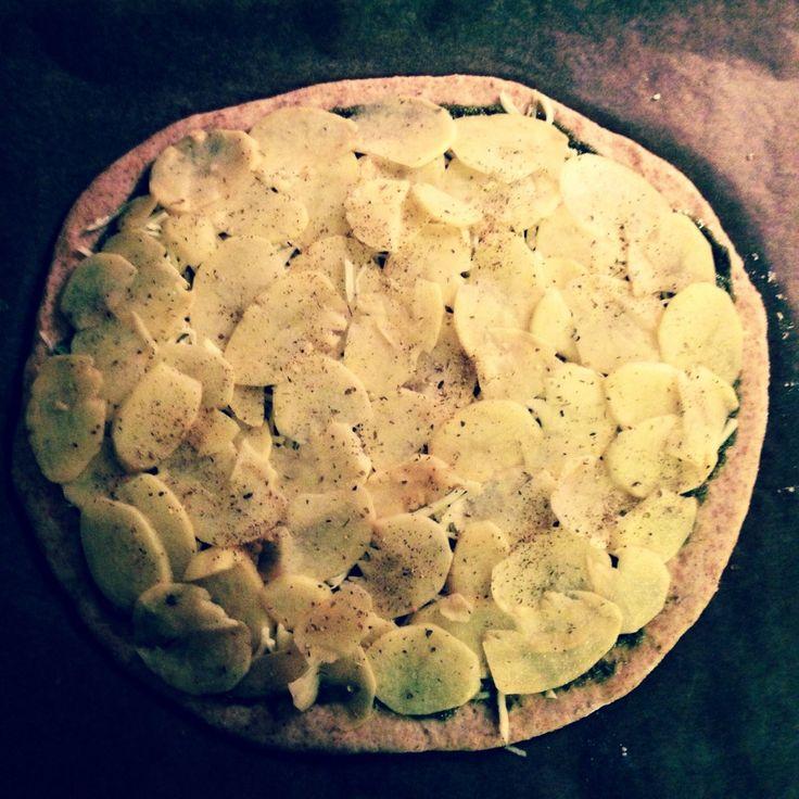 Pizza med kartoffel! Må prøves!