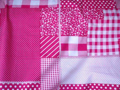 NB 5634-17 Katoen patchwork fuchsia