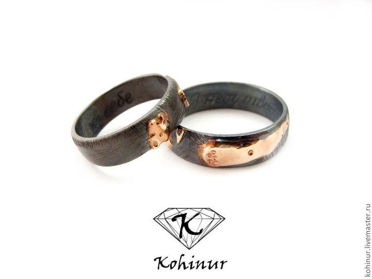 """Купить Обручальные кольца """"Летние ночи"""" Серебро и золото - золотой, золото, серебро, обручальные кольца"""