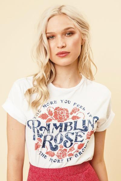 Ramblin Rose Tee                           | Prism Boutique