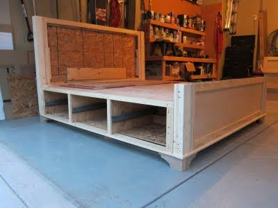 DIY Divas....a lot of great ideas on here...including this bed with built-in storage that they made!