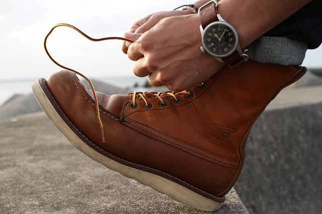 Classic Red Wing Moc Toe