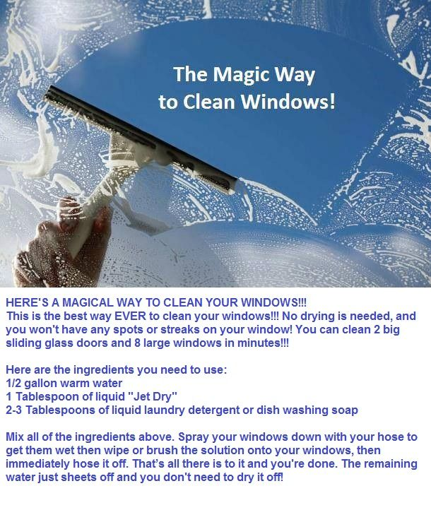 The Magic Way To Clean Your Windows Home Remes Pinterest Cleaning Hacks And Window Cleaner