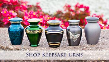 Keepsakes cremation urns (or mini urns) are often used to share your loved one amongst family members. | For our full keepsake collections, visit our website: http://www.stardust-memorials.com/small-urns-and-keepsake-urns-for-ashes.html
