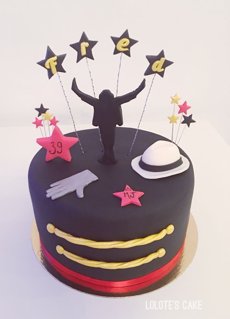 Cake design, anniversaire, gâteau Michael Jackson, pâte à sucre