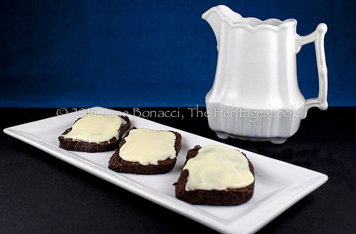 Velvety Chocolate Cookies with White Chocolate Ganache Frosting from The Heritage Cook