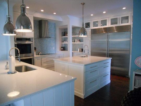 White Quartz via Granite Gurus: Whiteout Wednesday, Dreams Kitchens, Kitchens Ideas, White Quartz Countertops, White Cabinets, Granite Countertops, White Countertops, Granite Gurus, White Kitchens