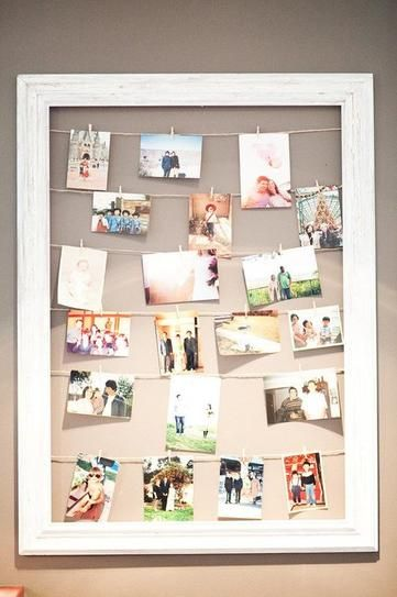 how to hang pictures in 20 different ways stylecaster i like the idea - How To Hang Photos
