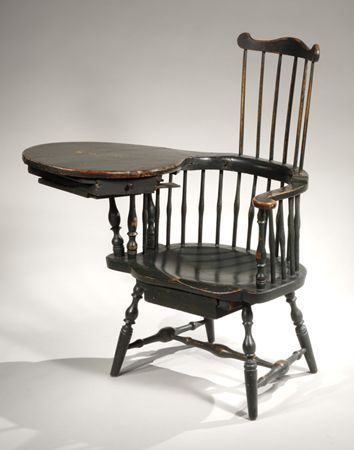 Antique Writing Chair | Painted Comb Back Windsor Writing Armchair, Lisbon,  Connecticut,