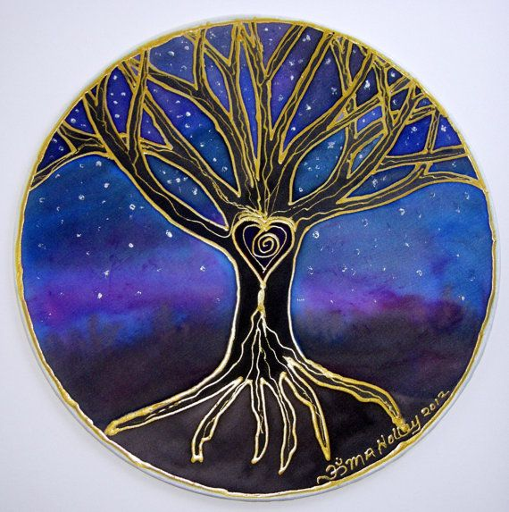 "The 'Tree of Wisdom""  mandala art tree of life art spiritual art meditation art Made to Order"