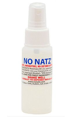 No Natz Bug Repellent has been proven to repel gnats, no-see-ums, mosquitoes, biting flies, and red bugs. No Natz™ Bug Repellent heals existing bites with all-natural ingredients.  Made in the USA!