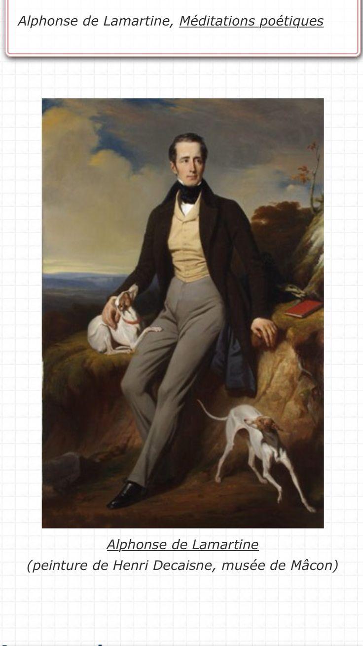 """Zur Silberplakette von  GEORGES DUPRÉ   """" SALUT AU SOLEIL """"  Alphonse de Lamartin lebte  von 1790 bis 1869 ."""