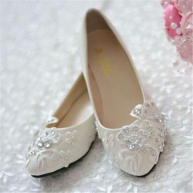 Wedding Shoes - Sapatilhas - Bico Fino - Branco - Feminino - Casamento / Festas & Noite de 2016 por R$171,41