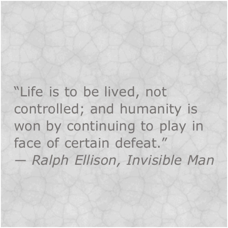 an analysis of invisible man by ralph ellisons Author ralph ellison became famous for his novel the invisible man  we  have so large base of authors that we can prepare a unique summary of any  book.