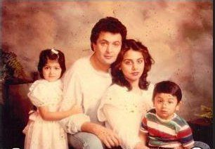 Young Ranbir Kapoor in a family portrait