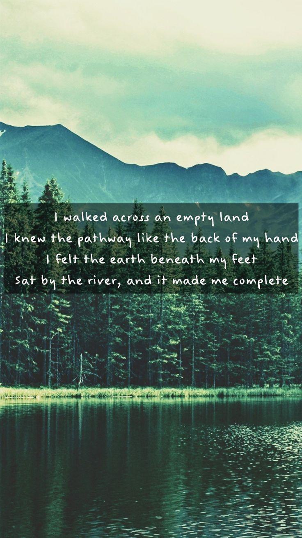 Somewhere only we know - Keane Lyrics Lockscreen