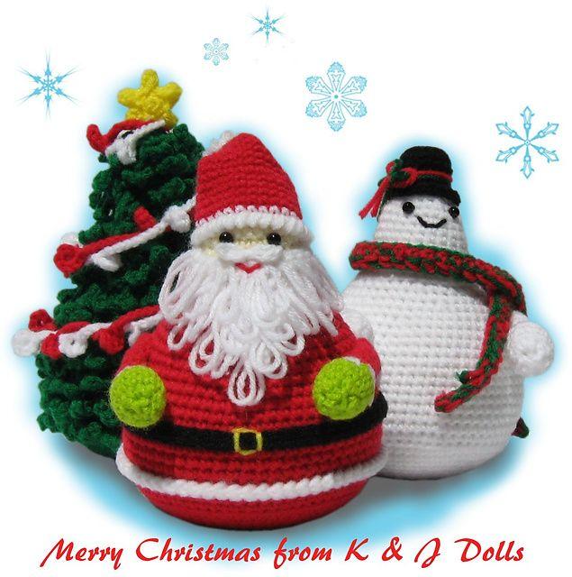 Easy Christmas Amigurumi : Images about christmas elves santa snowmen