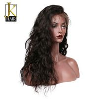 Brazilian Remy Glueless Full Lace Human Hair Wigs With Baby Hair Water Wave Pre Plucked Bleached Knots With Bangs Elegant Queen