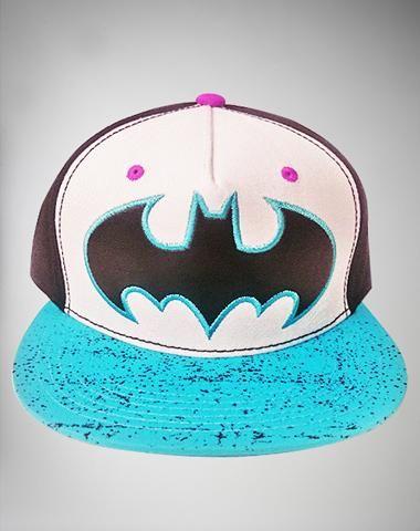 Matte Leather Batman Snapback Hat