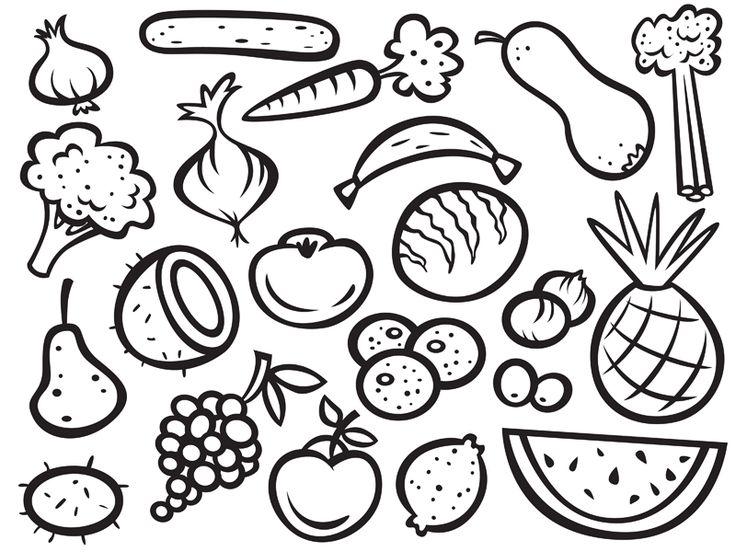 Ausmalbilder Obst Und Gemse amp Pinterest