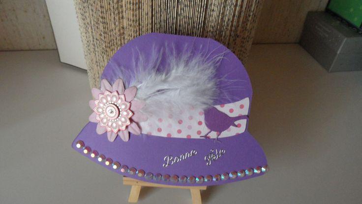 Carte pour Catherinette , en forme de chapeau : Cartes par made-by-newscrapeuse