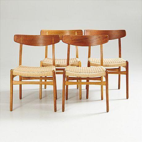 Denmark, teak and oak dining chair, model CH-23, designed by Hans J. Wegner (1914-2007). Produced by Carl Hansen