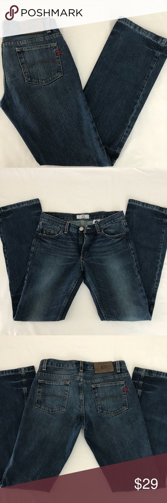 A/X Armani Exchange Womens boot fit jeans. A/X Armani Exchange Womens boot fit jeans. A/X Armani Exchange Jeans Boot Cut