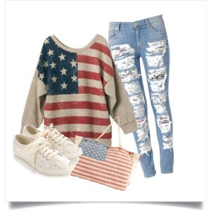 Cute (Warm) Outfit for the Fourth of July