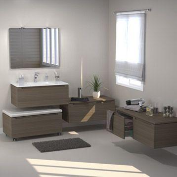Meuble de salle de bains n o imitation noyer badezimmer pinterest - Leroy merlin verriere ...