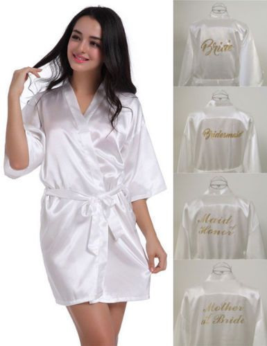 Silk Satin Personalized Wedding Robe Bridesmaid Bride Mother Child Dressing  Gown Wedding Robe Personalized 957ac6d63