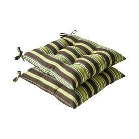 Pillow Perfect Lyndhurst Brown Green Stripe Seat Pad For Universal 386