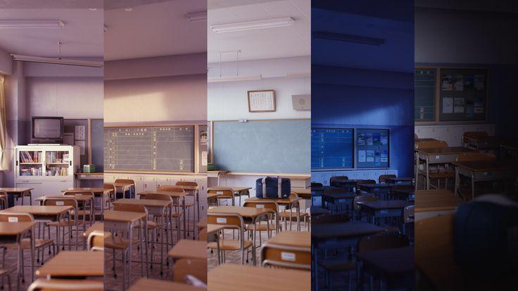 Classroom, Pavel Galicki on ArtStation at https://www.artstation.com/artwork/6wBk6