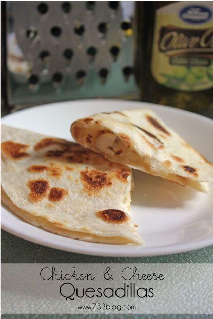 seven thirty three - - - a creative blog: Chicken & Cheese Quesadillas
