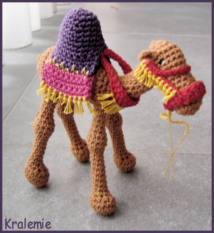crocheted camel