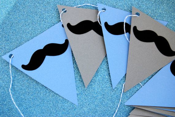 Mustache party banner..simple diy