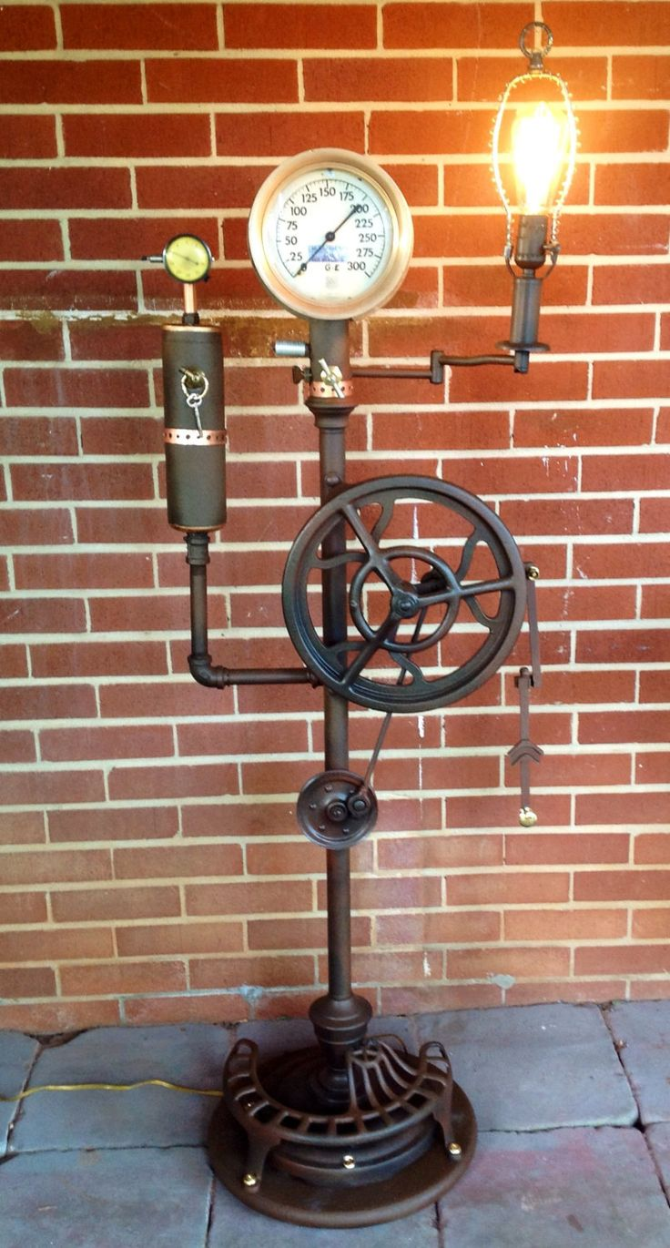 172 best images about industrial steampunk lighting on for Industrial punk design