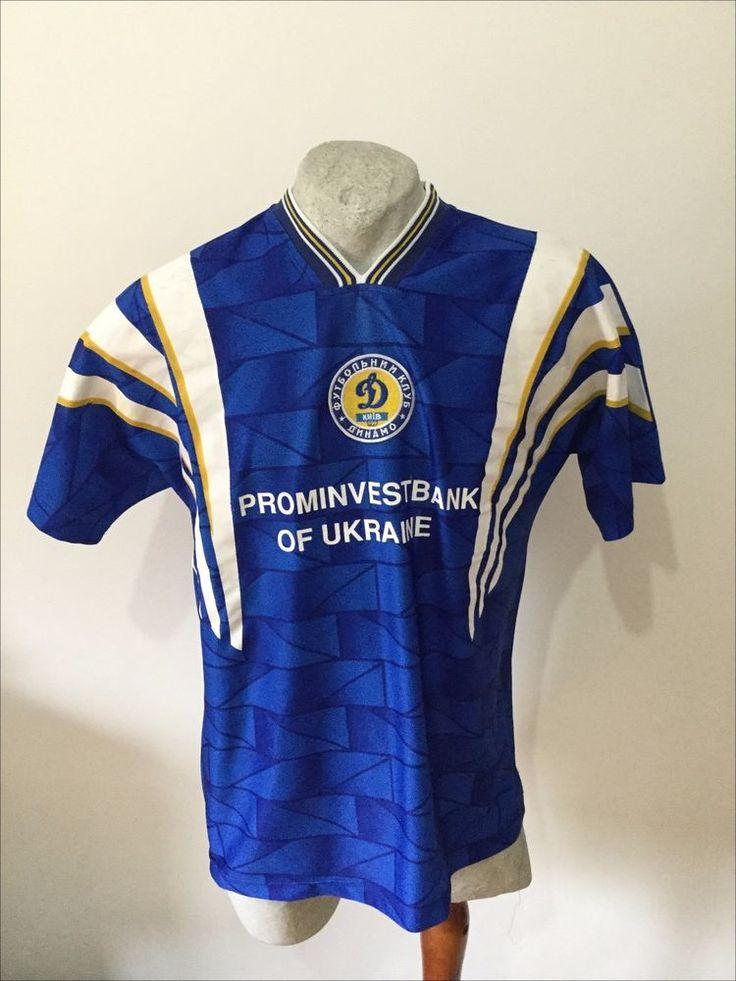 Maglia calcio dynamo kiev ukraine football shirt trikot jersey vintage 1997
