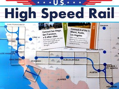High Speed Rail Board Game - California Rail Map