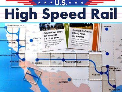 High Speed Rail Board Game - California Rail Map