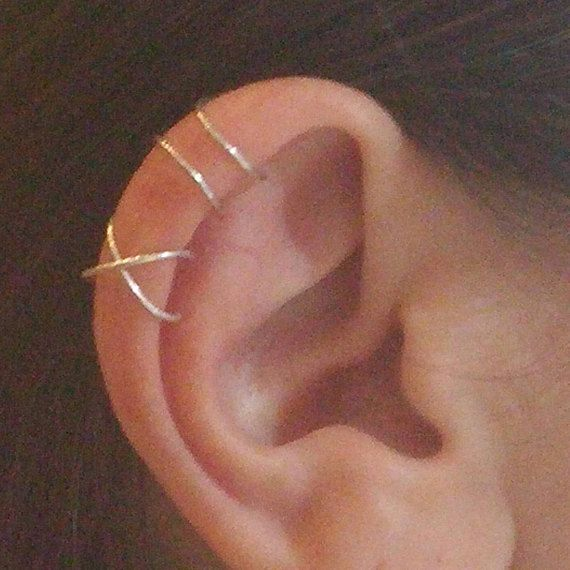 Ear cuff set Fake cartilage ring Ear cuff no piercing