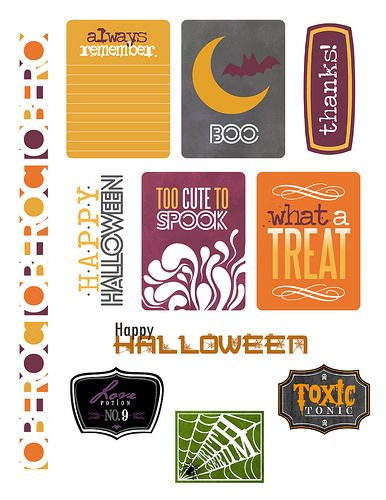 Free October Printables | Paper Crafts & Scrapbooking
