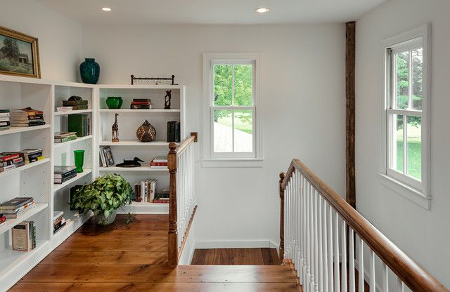 Shelving make nooks usable and attractive.
