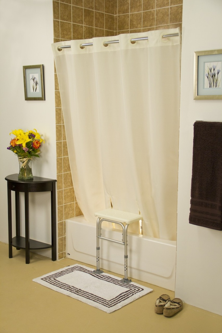 Occupational Therapy - Adapted Shower Curtain for use with Tub Transfer Bench.