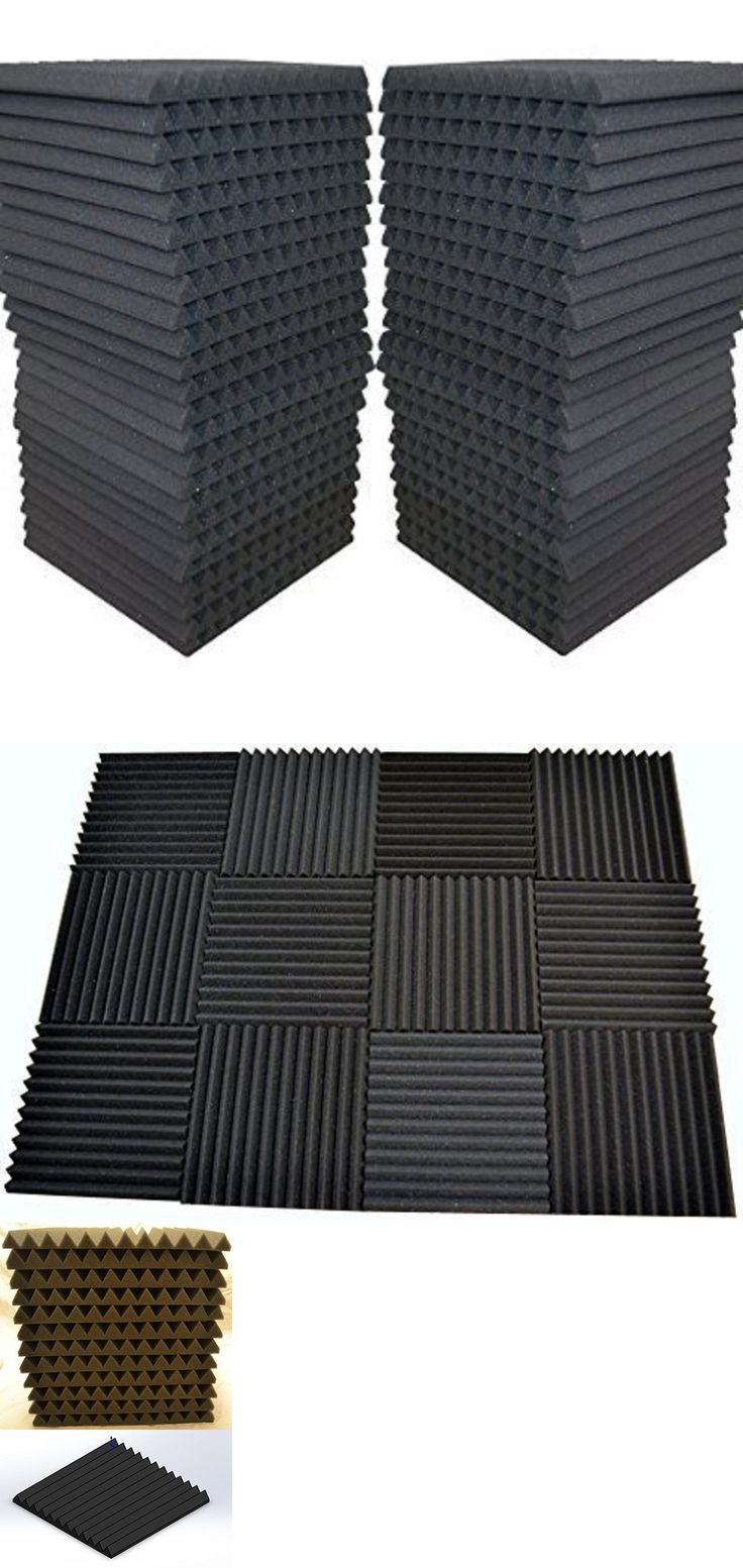 materials: 48 Pack - Acoustic Panels Studio Soundproofing Foam Wedge Tiles 1 X12 X12 -> BUY IT NOW ONLY: $55 on eBay!