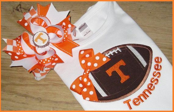 Tennessee vols football tshirt and hair bow by