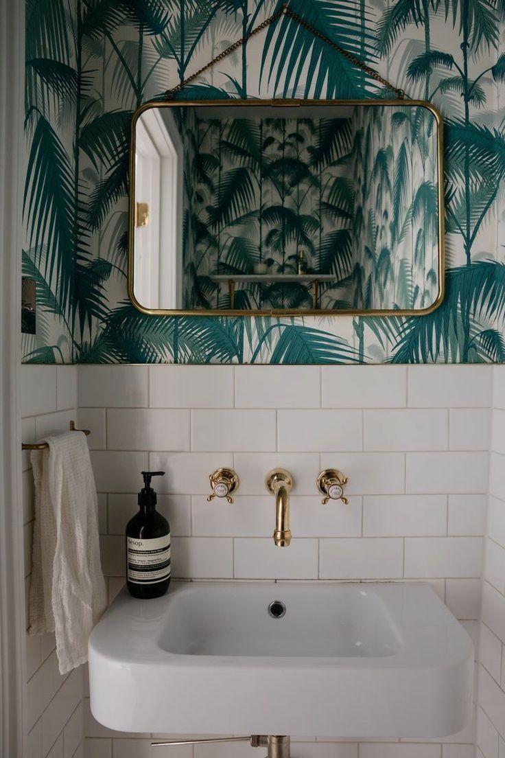 Suitable Bathroom Wall Decor Fashion To Inspire You Powder Room Small Trendy Bathroom Bathroom Interior Fashionable style bathroom wallpaper