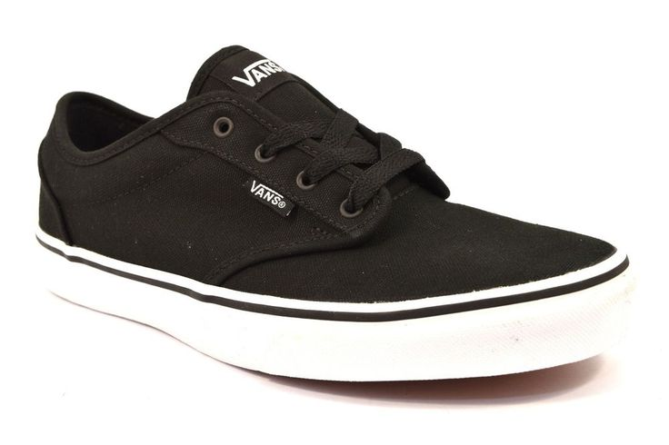 VANS VN000KI5187 ATWOOD CANVAS NERO Junior Cotone Sneakers Tessuto Suola Bianca